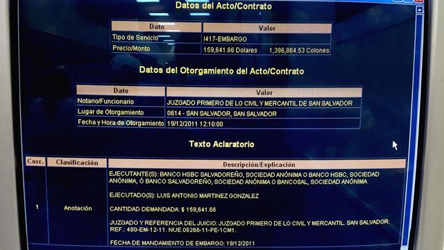 Unos días antes de la navidad de 2011, un juzgado ordenó el embargo de ese inmueble de Martínez.