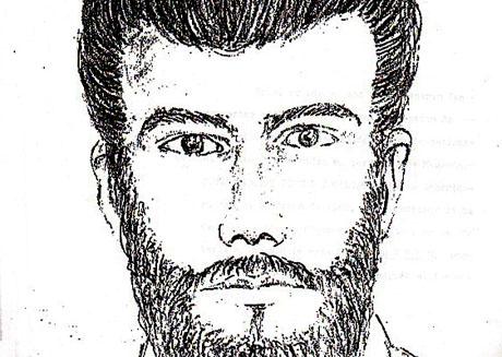 Retrato hablado del supuesto tirador que mató a monseñor Óscar Arnulfo Romero el 24 de marzo de 1980 y que es parte del archivo judicial del caso.