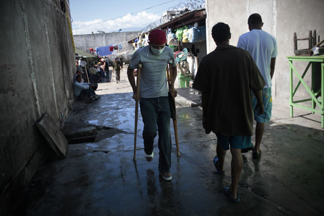 Patio de la penitenciería de Comayagua donde los lesionados deberan pasar el proceso de curación de sus quemadas.