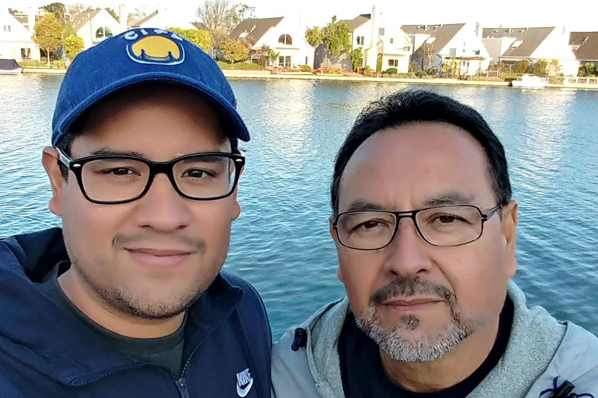Father and son, both named Carlos. They are U.S. residents. Photo courtesy of the family.